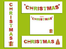 Christmas letter banners stock illustration