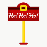 Christmas letter box to Santa isolated, Santa Claus xmas mail delivery postbox Stock Photos
