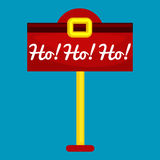 Christmas letter box to Santa isolated, Santa Claus xmas mail delivery postbox  Royalty Free Stock Image