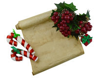 Christmas letter 3 Royalty Free Stock Image
