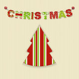 Christmas letter bunting background Royalty Free Stock Photos