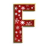 Christmas letter F in red Stock Image