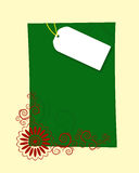 Christmas letter frame. Christmas letter paper with design twirls on it Stock Photo