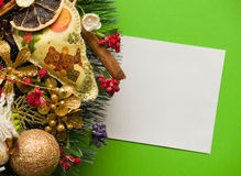 Christmas letter. Holiday card Royalty Free Stock Images