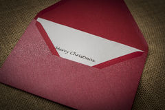 Christmas letter Stock Photography