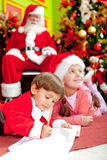 Christmas letter for Santa Stock Photography