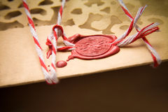 Christmas letter stamp Stock Image
