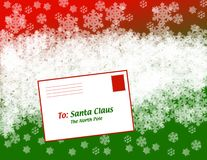 Christmas Letter to Santa Stock Images