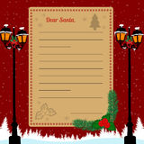 Christmas letter to Santa Claus Stock Photo