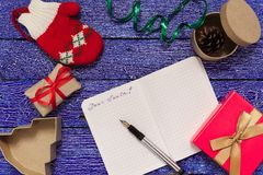 Christmas letter writing Stock Photo