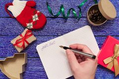 Christmas letter writing Royalty Free Stock Images