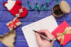 Christmas letter writing Royalty Free Stock Image