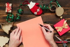 Christmas letter writing Stock Photos