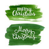 Christmas lettering Royalty Free Stock Photos