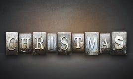 Christmas Letterpress Stock Photography