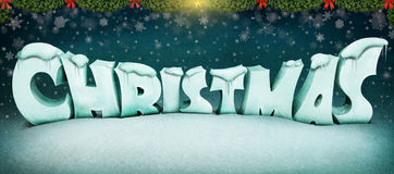 Christmas letters Stock Photography
