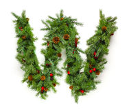 Christmas letters collection Royalty Free Stock Photo