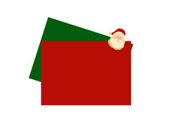 Christmas letters with santa. In red and green Royalty Free Stock Images