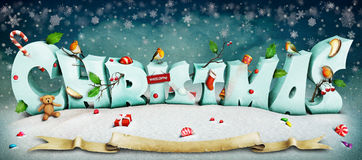 Christmas letters Royalty Free Stock Photography