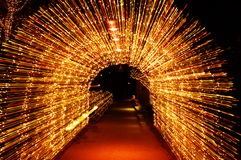Christmas Light Arch Stock Photo