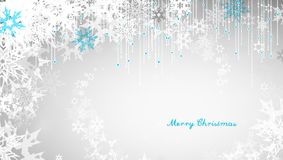 Christmas light background with white snowflakes Royalty Free Stock Photo