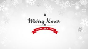 Christmas light background with white snowflakes Stock Photos