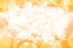 Christmas light background Yellow and white Royalty Free Stock Photography