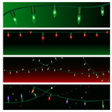 Christmas light banners Royalty Free Stock Photography