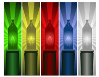 Christmas light banners Stock Photo