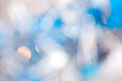 Christmas light blue background Royalty Free Stock Photography