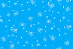Christmas light blue background with gentle snowflakes Royalty Free Stock Photo