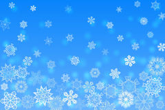 Christmas light blue orthogonal background with snowflakes Royalty Free Stock Photos
