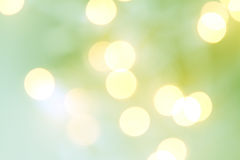 Christmas light bokeh. In shades of green and yellow vector illustration