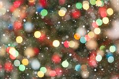 Christmas light bokeh Stock Image