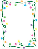Christmas Light Border Stock Image