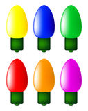 Christmas light bulb vector symbol set, icon  design. Winter illustration isolated on white background. Royalty Free Stock Photo