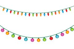 Christmas Light Bulb On White Background. Illustrator Vector Eps 10 Royalty Free Stock Photography
