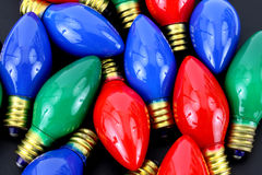 Christmas light bulbs Royalty Free Stock Photos
