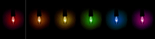Christmas Light bulbs Royalty Free Stock Image