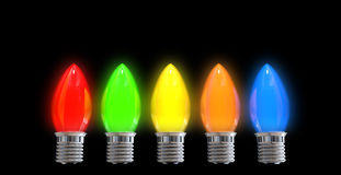 Christmas Light Bulbs Stock Photo