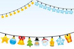 Christmas light bulbs. Stock Photos
