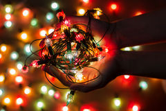 Christmas light bulbs Royalty Free Stock Photography