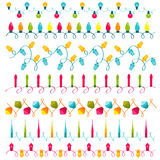 Christmas light bulbs Set Royalty Free Stock Photo