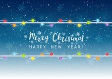 Christmas light bulbs Stock Images