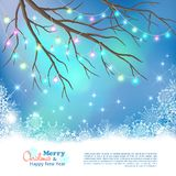 Christmas Light Bulbs Vector Background Royalty Free Stock Photography