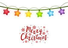Christmas light bulbs Stock Photography