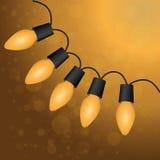 Christmas light bulbs. Christmas yellow light bulbs. Vector Royalty Free Stock Images