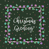 Christmas Light Card1 Royalty Free Stock Image