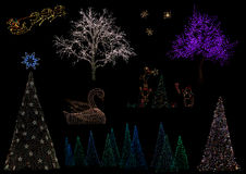 Christmas Light Decoration Stock Images