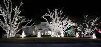 Christmas Light Display Royalty Free Stock Photography